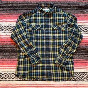 Columbia L Flannel Long Sleeve Button Down Shirt